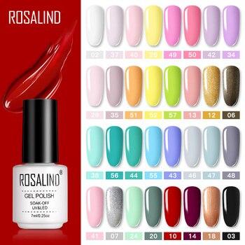 ROSALIND набор гель-лаков для маникюра для ногтей полуперманентный Vernis верхнее покрытие УФ светодиодный Гель-лак отмачиваемый художественный Гель-лак для ногтей