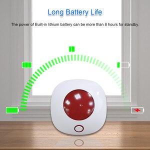 Image 5 - מקורה צופר סירנה 433MHz אלחוטי מהבהב Strobe סירנה אור סירנה עבור WIFI GSM בית מעורר מערכת ביטחון אדום צבע