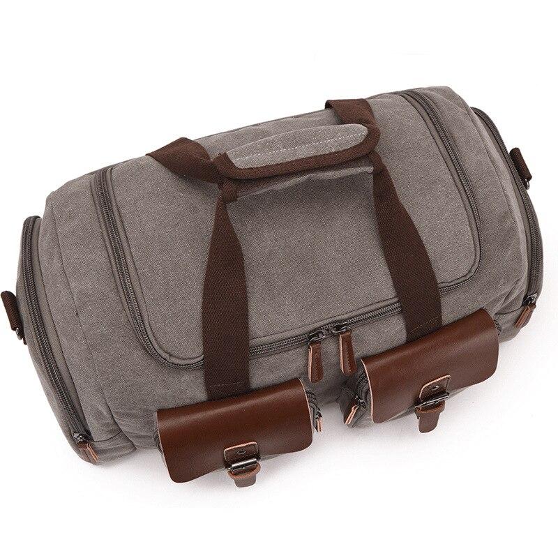 Европейская и американская дорожная сумка, Холщовая Сумка, дорожная сумка, мужская сумка на плечо, сумка мессенджер - 4