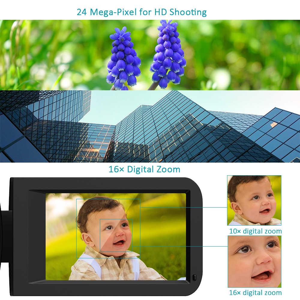 Andoer HDV-Z20 cámara de vídeo portátil 1080P videocámaras digitales Full HD pantalla táctil WiFi Control remoto videocámara profesional