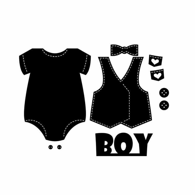 YaMinSanNiO rzemiosło metalowe matryce do cięcia stali najnowsze ubrania dla dzieci wzornik do DIY papier do scrapbookingu/karty fotograficzne szablony do wytłaczania