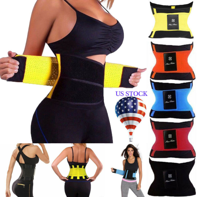Sport Yoga Shirt Women Hot Waist Trainer Body Shaper Modeling Belt Underbust Strap Gym Running Jogging  Burn Fat Body Shaper