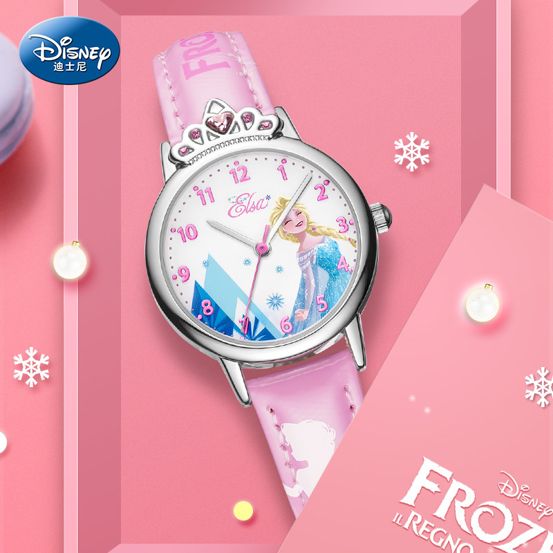 Disney Children% 27 Watch Princess Elsa% 2C Frozen-schoolgirl% 2C водонепроницаемый руки стиль часы для девочек и девочек