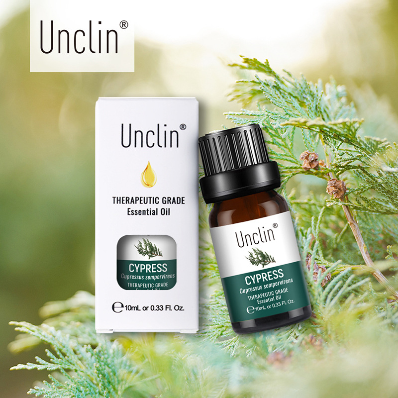 Unclin10ml Cypress Pure Essential Oil Tea Tree Lavender Sandalwood Aromatherapy Essential Oils Relieve Stress Help Sleeping