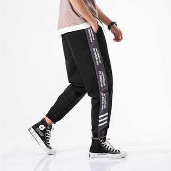 2020 New Hip Hop Joggers Cargo Pants Men Harem Pants Multi-Pocket Ribbons Man Sweatpants Streetwear Casual Mens Pants S-6XL - XXXL, 2001Black