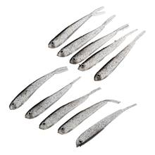 10 pcs fishing lure artificial fish bait soft silicone creme low darkness(China)