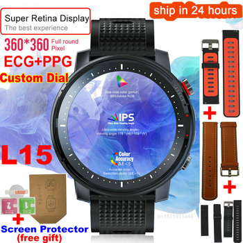 L15 Smart Watch Men 1.3inch Full-fit Round Retina Display Music Control Camera Flashlight PK L5 L9 Smartwatch IP68 Waterproof 1