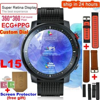 L15 Smart Watch Men 1.3inch Full-fit Round Retina Display Music Control Camera Flashlight PK L5 L9 Smartwatch IP68 Waterproof