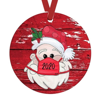 2020 Christmas Tree Ornament-Faceless Santa Claus Hanging Ornaments Toilet Paper Ornament Christmas Quarantine Gifts Presents* image