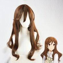Парик для косплевечерние аниме «Хори-Сан-миямура-кун», длинный каштановый Синтетический волос, реквизит для вечеринки на Хэллоуин и шапочк...