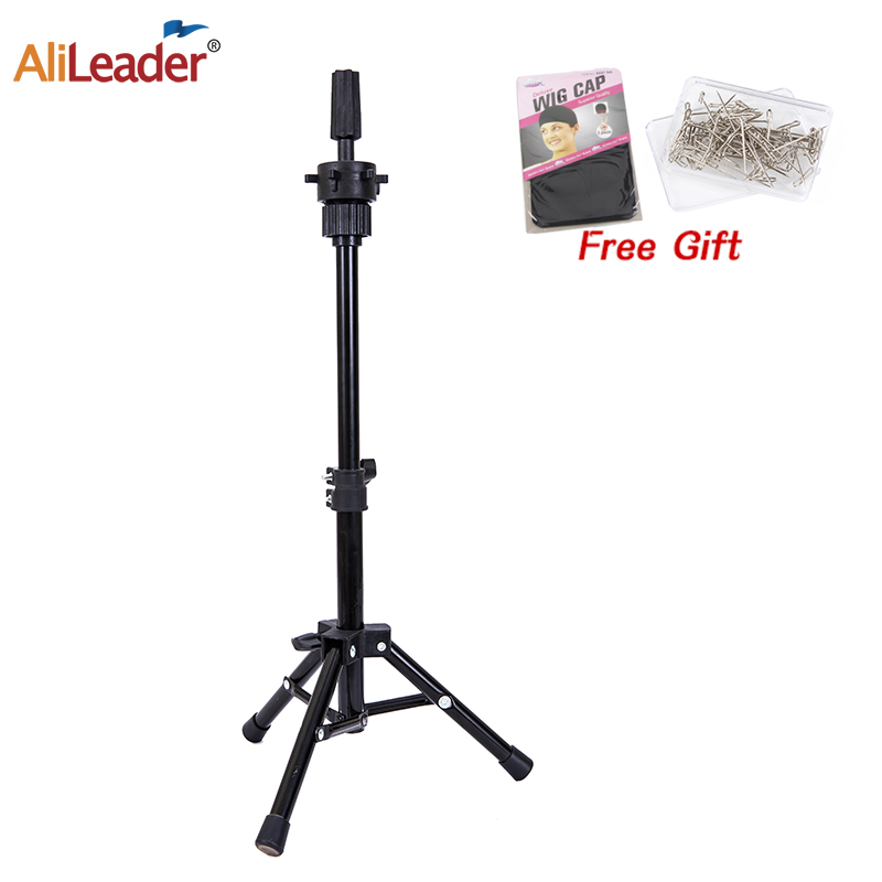 Alileader 60Cm Wig Stand Tripod Adjustable Wig Head Holder Tripod Stand For Training Mannequin Head Wig Display Wig Cap T-Pins