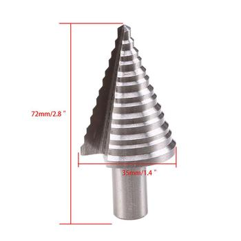 цена на Steel Step Cone Bit High Speed Steel Wood Hex Step Spiral Cone Drill Cutter HSS Step Cone Drill Titanium Bit Hole Cutter Tool