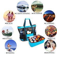 Outdoors Camping Picnic Bags Beach Mesh Cooler Bag And Detachable Insulation Fresh-keeping Bags Packing Outdoors Supplies