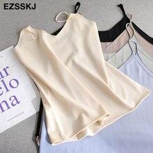 Sexy básico solto camisola verão malha tank top feminino cinta de malha feminino camis top casual