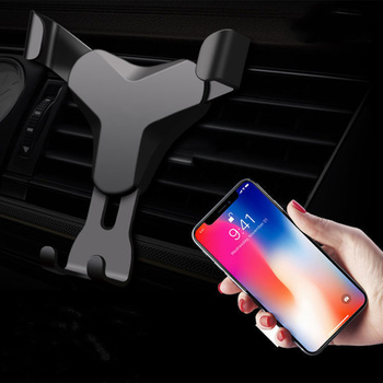 Gravity Reaction Car Mobile Phone Holder Clip Type Air Vent No Magnetic Mount GPS Car Smartphone Stand For iPhone X 7 Samsung S9 image