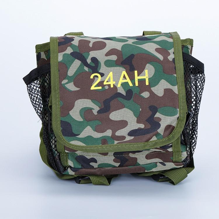 Камуфляжный 12v Рюкзак-батарея для улицы 24ah армейский с толстой версией водонепроницаемый литиевый Рюкзак-батарея