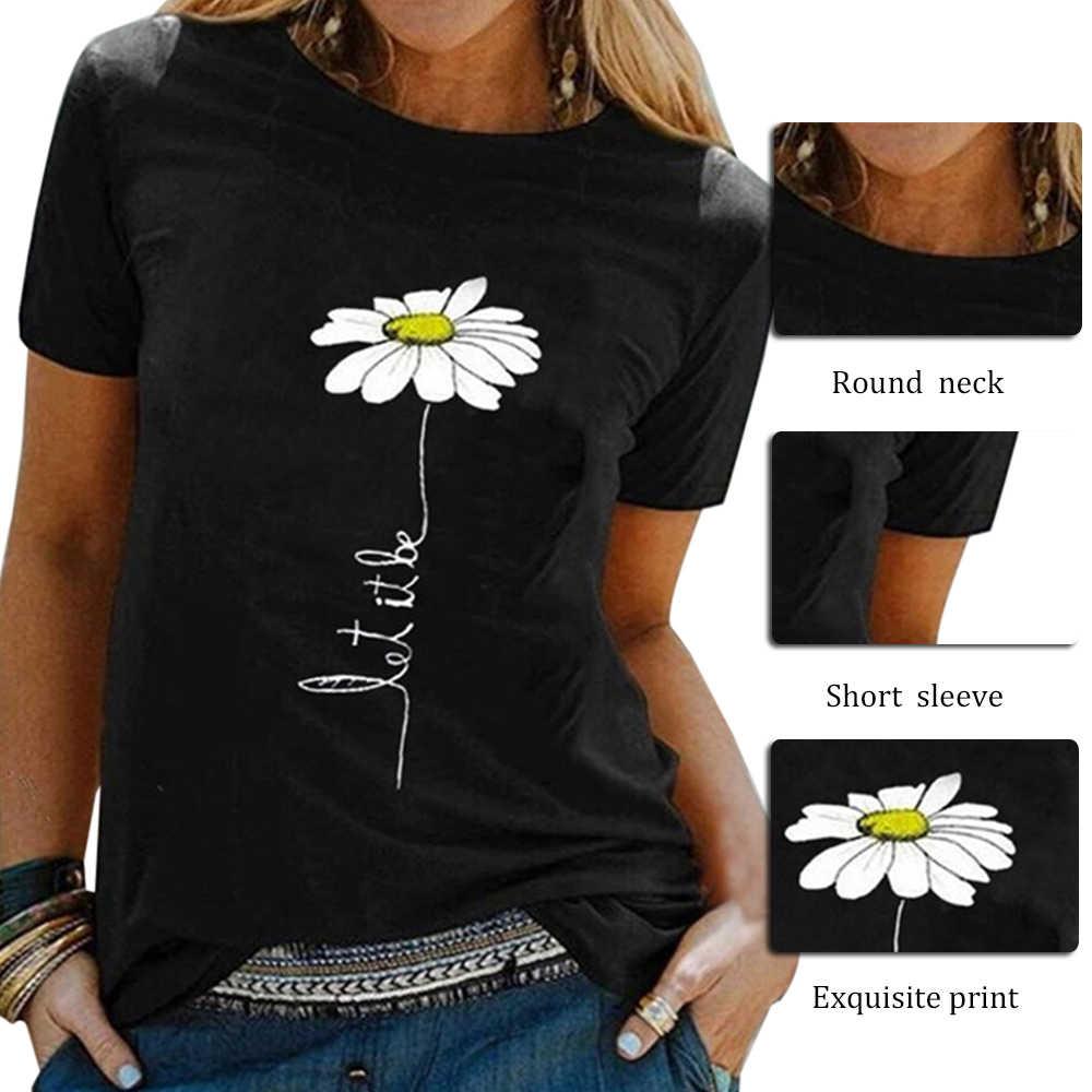 Disputent ผู้หญิงดอกไม้เสื้อยืดเลดี้แฟชั่นแขนสั้นเสื้อผ้าฤดูร้อนเสื้อเชิ้ตเสื้อยืด O คอหญิงสุภาพสตรีสตรีเสื้อยืด