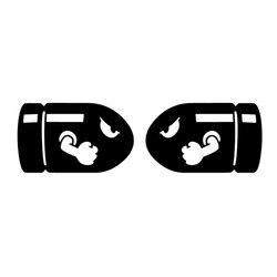 2 шт. (слева и справа) 21*6,5 см Автомобильная наклейка с пулями наклейки супер Марио наклейка для мотоцикла s персонализированный C2-0346 для стайл...