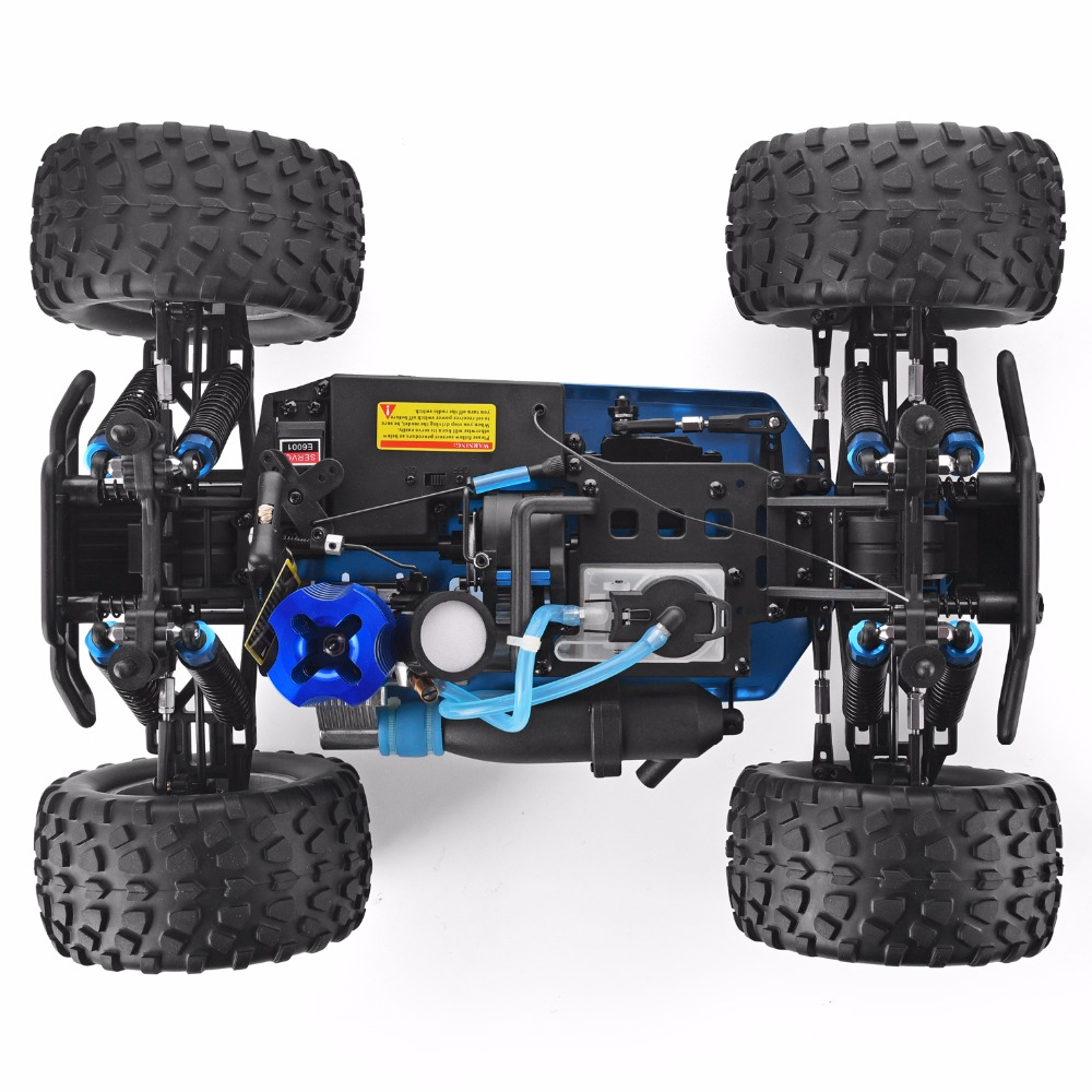 Nitro Gas Powered RC Cars Off Road Monster Truck 1:10 Scale Two Speed 4WD