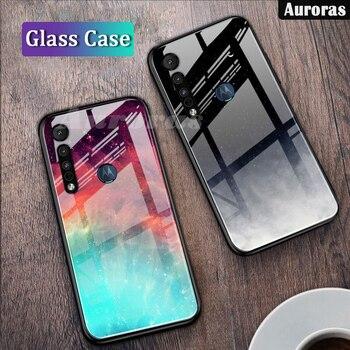 Перейти на Алиэкспресс и купить Auroras для Motorola G8 Play чехол звездное небо Дизайн Moto One макро закаленное стекло чехол для Moto G8 Plus чехол