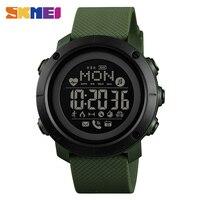 SKMEI Smart Watch Outdoor Sport Men Watch impermeabile Bluetooth compatibile con ricarica magnetica bussola elettronica reloj inteligent