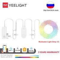 Yeelight-tira de luces RGB 1S, banda de luz inteligente, 1M, escalable a 10M, para oficina, hogar, PC, trabajo con asistente de Google Alexa