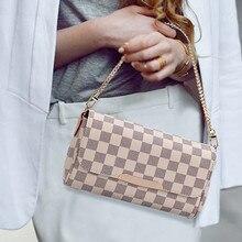 2020 European and American Fashion Luxury Women's Bag Chain Plaid Design Women S
