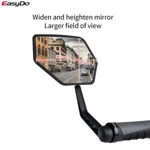 Image 5 - EasyDo 1 çift bisiklet dikiz aynası bisiklet bisiklet geniş arka görüş reflektör ayarlanabilir sol sağ aynalar