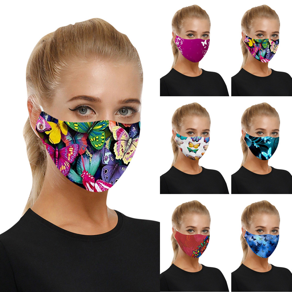 Dustproof Washable Mask For Adults Children Reusable Mouth Cover Cap Fashion Non-woven Protective Mouth Face Masks Universal