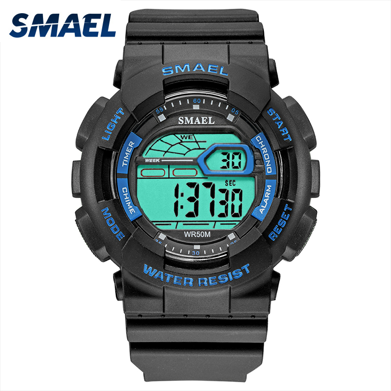 Digital Watches Sport Stopwatches SMAEL Military Watch Led Digital 50M Waterproof Clock For Male 1027D Watches Mens montre homme