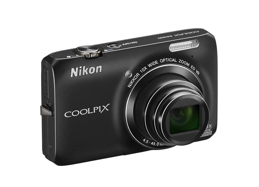 Б/у цифровая камера Nikon COOLPIX S6300 16 МП со стеклянным объективом NIKKOR с 10-кратным зумом и видео Full HD 1080p