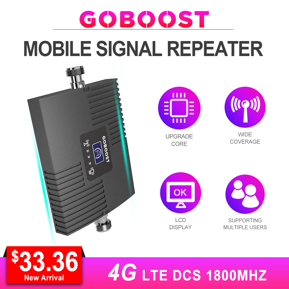 Repeater 4G Booster Signal LTE Cellular Signal Booster 4G 1800MHZ DCS GSM 4G For Mobile Phones Band3 With LCD Display Mini NEW *