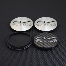 4 pces 56mm/53mm centro da roda do carro tampões de roda com oz emblema adesivo roda aro centro tampões para m582 botticelli crono