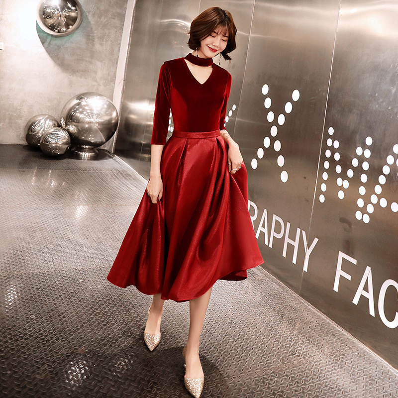2019 Special Offer Bride Dress Vogue Of New Fund Of 2020 Long Cultivate Morality Show Thin In The Simple And Easy Wine Wedding