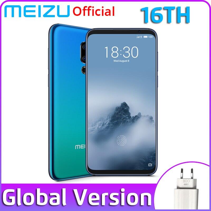 Official Meizu 16th 16 th 8GB 128GB Global Version Snapdragon 845 Octa Core 6.0'' Screen 2160x1080P 3010mAh Dual Rear Camera