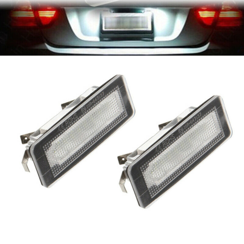 White License Plate Light 6500K For Mercedes Smart Fortwo Cabriolet Accessories Car Auto