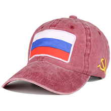 Embroidery Snapback Washed Cotton Russian Flag Women Men Hats Summer Winter Sunshade Visors Sombrero Mujer
