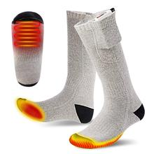Winter Heated Socks High Elasticity Warm Feet Electric Warming Thermal Sox Outdoor Ski Hiking Keeping Warm (Without Power Bank)