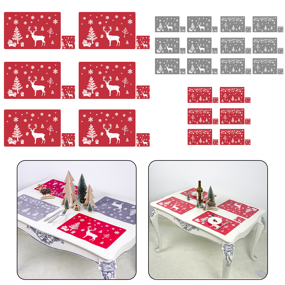 6 Sets of Matching Christmas Placemats and Coasters 3