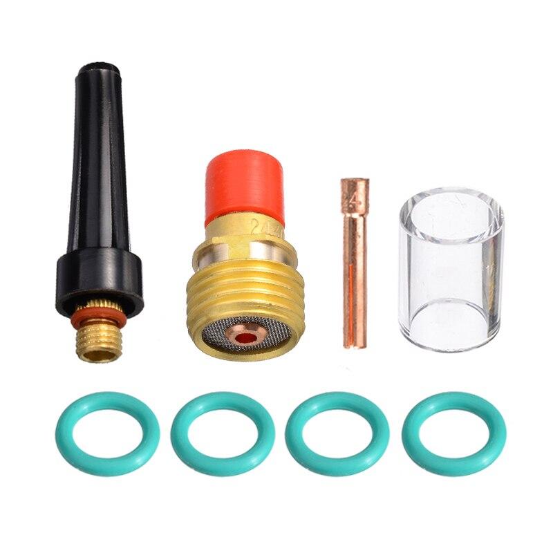 8 stücke 2,4mm Schweißen Fackel Gas Objektiv Pyrex Tasse Kit Für Tig WP-9/20/25 3/32