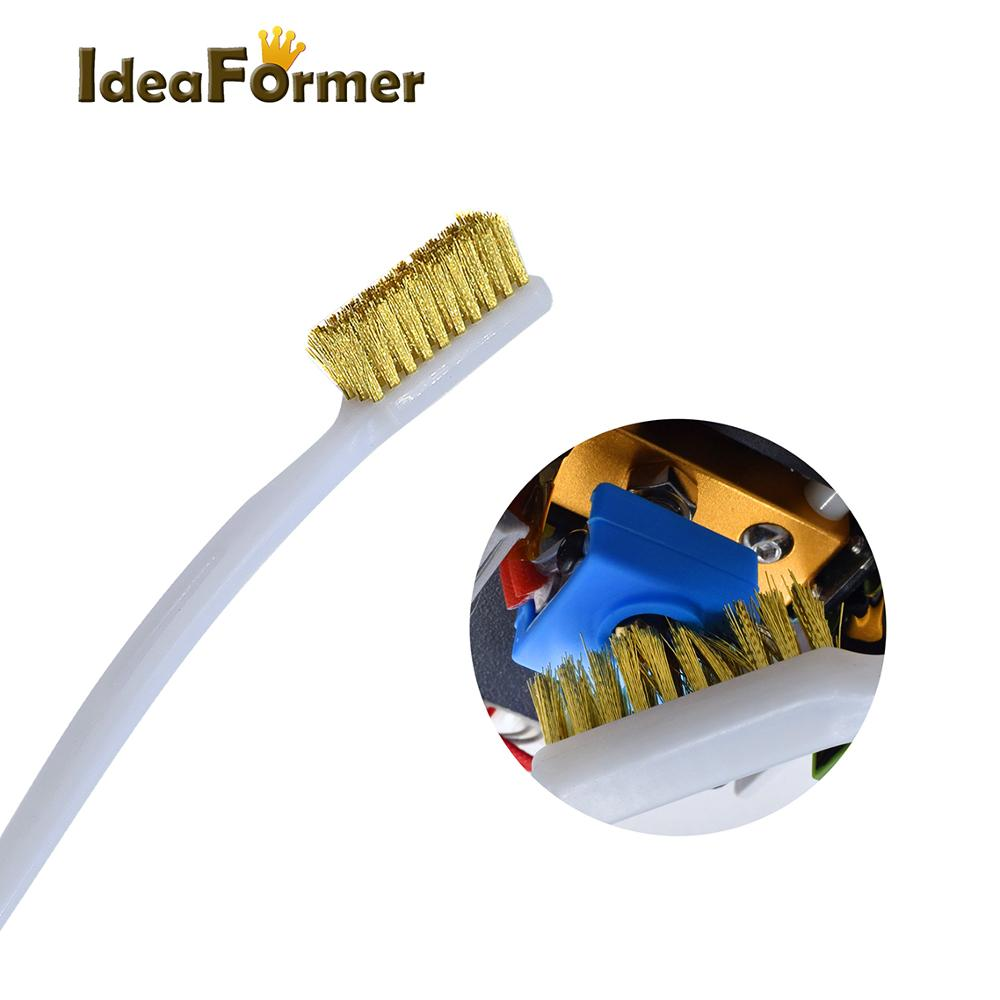 3D Printer Cleaner Tool Copper Wire Toothbrush Copper Brush Handle 3D Printer Nozzle Cleaning Hot Bed Cleaning 3D Print Cleaning