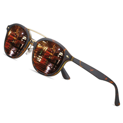 AOFLY Brand Designer Round Polarized Sunglasses Male Women Fashion Ultralight TR90 Frame Sunglasses For Men Gafas Oculos De Sol