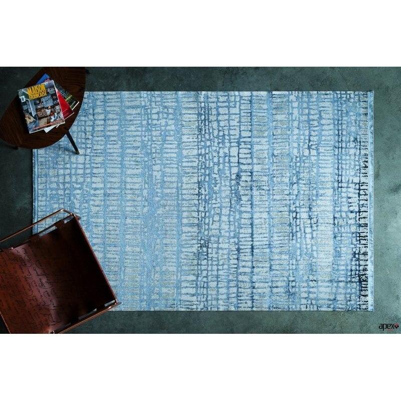 Apex Supreme 3 'x 10' Viscose Navy Blue Runner Rug