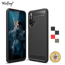For Huawei Nova 5T Case Luxury Brush Style Armor Soft Rubber Phone Back Cover Fundas
