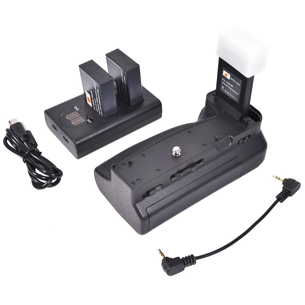 Us 64 99 Dste Eos Rp Vertical Battery Grip Holder With 2 Lp E17 Battery And Dual Lcd Charger For Canon Eos Rp Camera As Eg E1 On Aliexpress