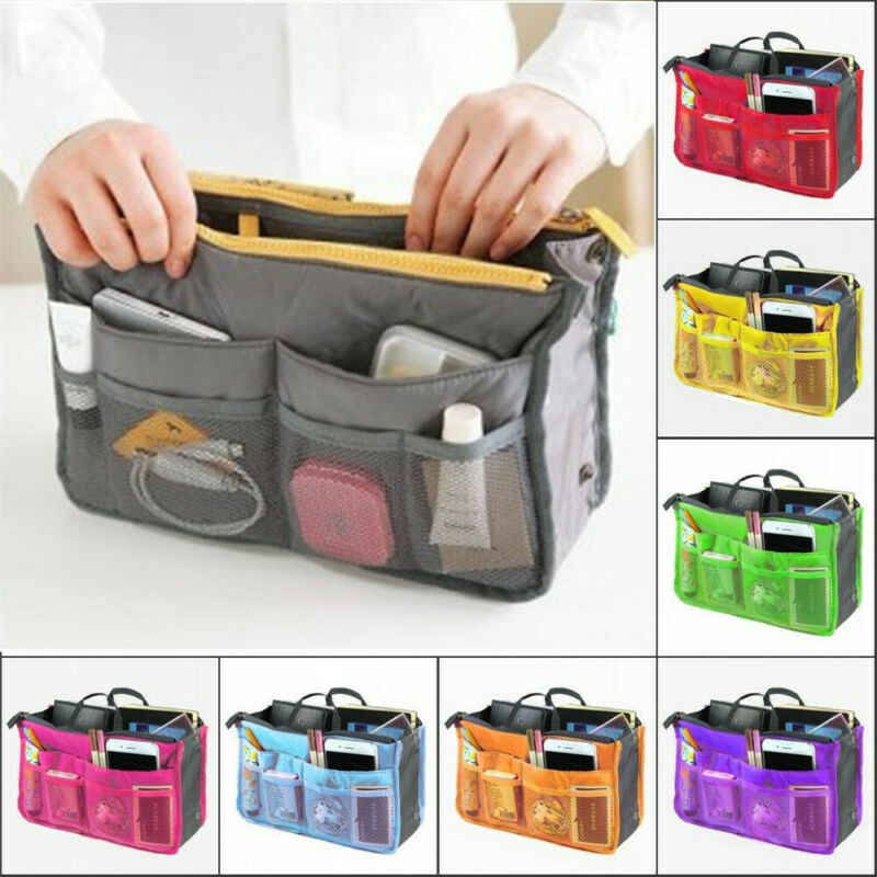 Handbag Organiser Insert Liner Travel Bag Organizer Large Purse Ladies Cosmetic