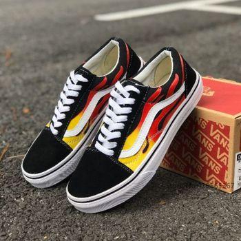 2020 αυθεντικά κλασικά παπούτσια vans flame pack πατίνια skateboard old scool