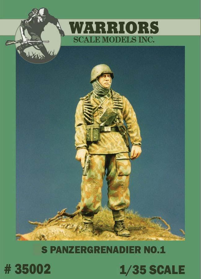 1/35 WWII German Panzergrenadier No.1 Resin Figure Kits Warriors #35002