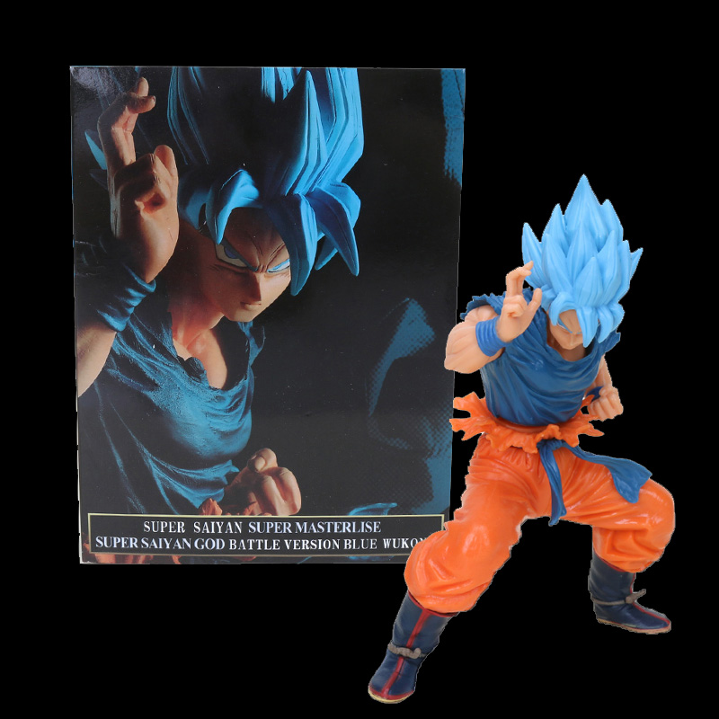 20cm Dragon ball figure Super Saiyan 4 God SS Blue Hair goku Dragonball Goku Collection Figure Toy-in Action & Toy Figures from Toys & Hobbies