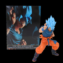 20cm Dragon ball figure Super Saiyan 4 God SS Blue Hair goku Dragonball Goku Collection Figure Toy